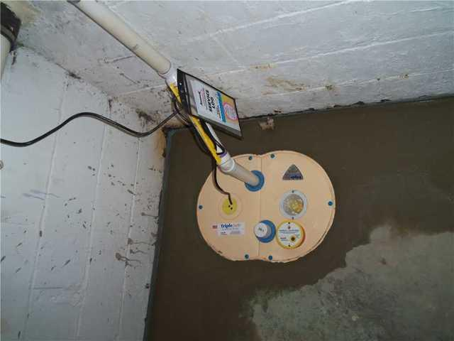 Basement waterproofing system in Lansing, MI