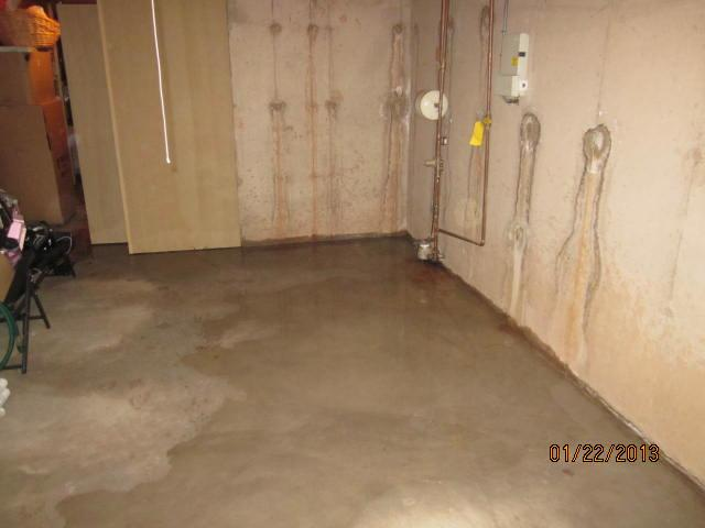 Basement Waterproofing Photo Al, Wet Carpet In Corner Of Basement
