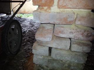This pillar has begun to deteriorate and crumble over time. Foundation repair is a must for this Camden, SC home.