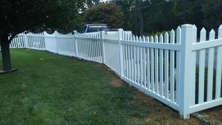 Here we have a photo of the exterior of the completed fence.