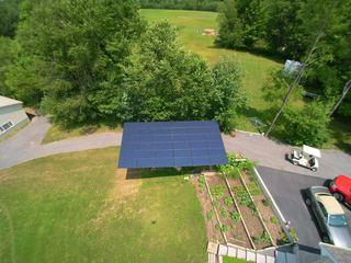 This 8.10 kW pole-mounted system was this Blossvale, NY customer's first solar install in 2013.