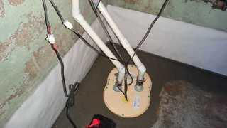 The TripleSafe Sump Pump has been installed into the basement to keep the water out and the basement dry.