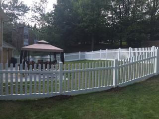 Here you can see the fence we installed.