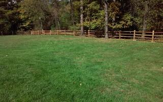 Here is a photo of the installed split rail cedar fence. As you can see, it is a good fit.