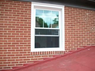 Our client loved the look of their previous windows, but were encountering performance issues. Energy Swing Windows matched the look that they wanted, and installed this brand new double hung vinyl window
