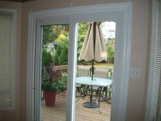 Our client wanted to update their patio door, as their previous one was not energy efficient. Energy Swing Windows specializes in energy efficiency, and installed this gorgeous white sliding glass door.