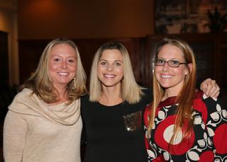 The first ones to the Christmas Party!  From left to right: Sales Manager Luke Stemple's wife Courtney, Appointment Center Representative Lauren Campbell, and Appointment Center Manager Laurie Delost.