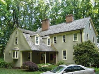 Plank siding is often used on historic looking homes like this one in Stockton, NJ for a few reasons. Plank siding appears to be traditional wood siding but it offers far superior durability so it really is a great siding product.