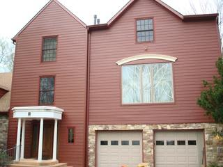 Country Lane Red Hardie siding installation in Ambler, PA! James Hardie siding comes in several colors and styles so you are guaranteed to get the exact look you want!