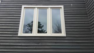 Our crew installed this 3 unit Marvin window on a home in Madison, NJ. These windows are very energy efficient and also very practical because of how easy they are to clean.