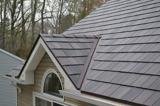 Metal SlateShingles are incredibly durable and also mimic the appearance of slate so they look beautiful too!