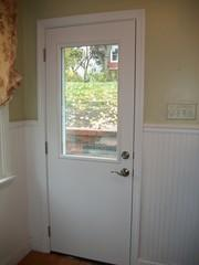 Here is an example of a rear entry door we installed for a client in Pittsburgh. Their previous door was outdated, rotting, and not energy efficient. As you can tell by the size of the door, this door was custom made to fit this home. A lot of Pittsburgh based homes were built at a time when doorways were more slim. However, that is not an issue for Energy Swing Windows. Give us a call if you would like an exact price in writing for your next home project!