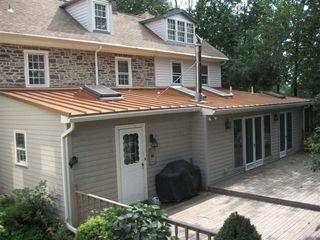 These homeowners in New Britain, PA wanted a portion of their roof that was particularly low sloped to be covered in metal roofing. Due to the shallow angle of the roof, they had faced some problems in the past and wanted a durableoptionto take care of the problem once and for all. Metal Roofing was the best choice and the results look amazing!
