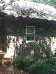 Close up view of stone siding that our crew installed in Wynnewood, PA. These stones provide a classic look as well as great durability