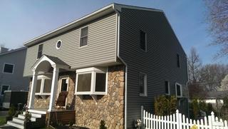 We gave this Westfield, NJ home a clean and updated look by replacing the existing siding. This durable siding is a great overall choice because it won't absorb moisture and will prevent mold and mildew growth.