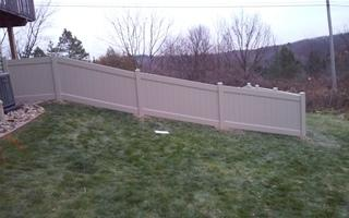 View of the fence from the house's side