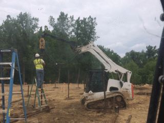 940 Helical Piers Installation. New Construction for Nursing home in Granville, OH.