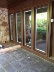 This large windows feature a fiberglass frame which allows for a thinner window profile and a longer lifespan than wood or vinyl because of it's low expansion contraction and resistance to fading, rotting or warping.