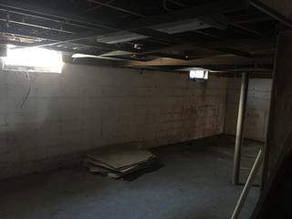 Here you can see one wall that needed structural repairs