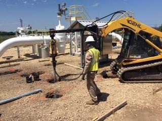 Helical Pier Installation