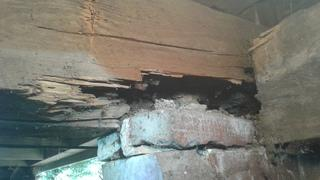 Rotten wood can be caused by termite damage or mold, so it is important to maintain an active watch in your crawl space for changes.