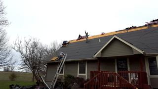 Duration Shingles being installed.