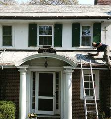 Our crew worked very hard to remove the old existing slate roofing