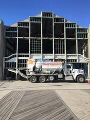 Small Deliveries are no problem for Quality Concrete. A contractor in Asbury Park, NJ was in need of a yard of concrete to do patching work on a floor that he was working on. He contacted Quality Concrete and was able to schedule a pour to have the one yard delivered.