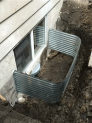 WellDuct® Window Well Drain designed to prevent basement flooding due to window well leakage