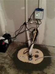 This TripleSafe™ Sump Pump was put in to replace the existing, old sump system.