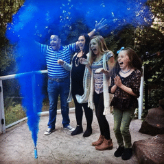 The moment Jason and family found out they had a boy on the way