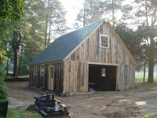The completed barn construction project. The results are classic and beautiful!