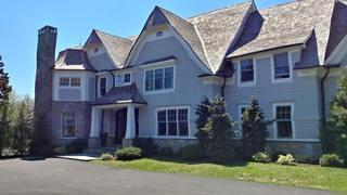 A full view of the home after the new entranceway had been installed by our exterior remodeling experts.
