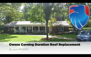 Beautiful home in St. Louis MO gets their roof replaced with amazing Owens Corning Duration shingles.