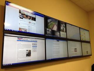 Video monitoring wall for local HVAC company.