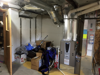 A view of the space that was chosen in which the TripleSafe™ System was installed.