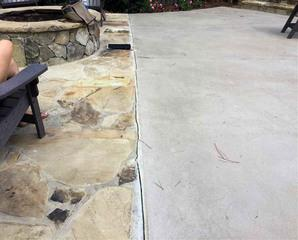 The crack that started to form got worse as time went on, causing worry for the homeowners.