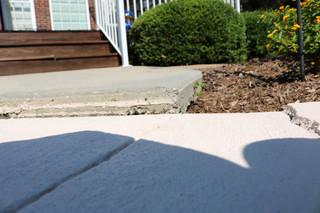 Homeowner Melissa kept noticing her concrete slabs around the pool to sink causing her to look for a solution.