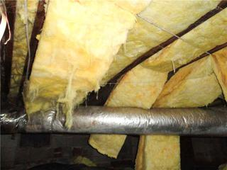 Falling insulation is a good indicator that there is a moisture problem in a crawl space.