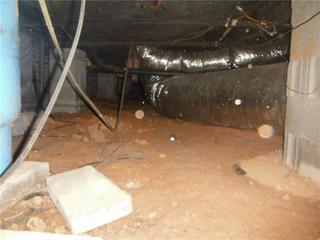 The homeowners began to notice a smell and mold growing in the vents signaling the problems that had been occurring in their crawl space.