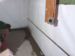 This photo shows the CleanSpace® and WaterGuard® installed and ready to protect this home.