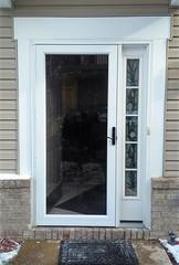 No one wants a flimsy storm door. Our customers need something that's going to hold out through the different weather conditions here in Pittsburgh. This storm door by ProVia not only looks polished and beautiful, but also protects their entry door from the wrath of mother nature.