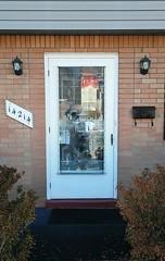 The previous front storm door was very outdated. The shutter type window makes this door difficult to maneuver.