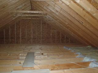 As you can see, this attic is severely under insulated. Causing their bedrooms to be drafty.