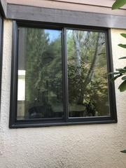 The Marvin Infinity fiberglass window is resilient to warping and cracking, unlike vinyl or wood, preventing any moisture from getting in. Water has trouble escaping stucco siding, so this type of window is ideal for this home.