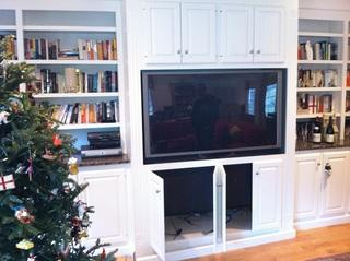Here is a TV console cabinet that was recently installed.