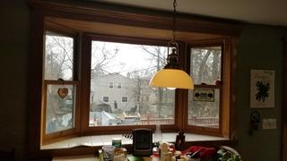 The original bay window formed a crack, allowing moisture inside. This could have lead to damage down the line and required replacement.