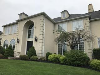 This stucco home, like many others in the NJ and PA area, had moisture issues trapped under the siding.