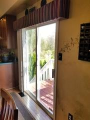 These homeowners wanted to replace this slider patio door with something a bit more durable and elegant, which is why they chose the Integrity French Outswing door.