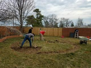 Our crew is preparing this homeowner's yard for their new above ground pool!